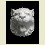 Lion Head with Teeth Wall Plaque