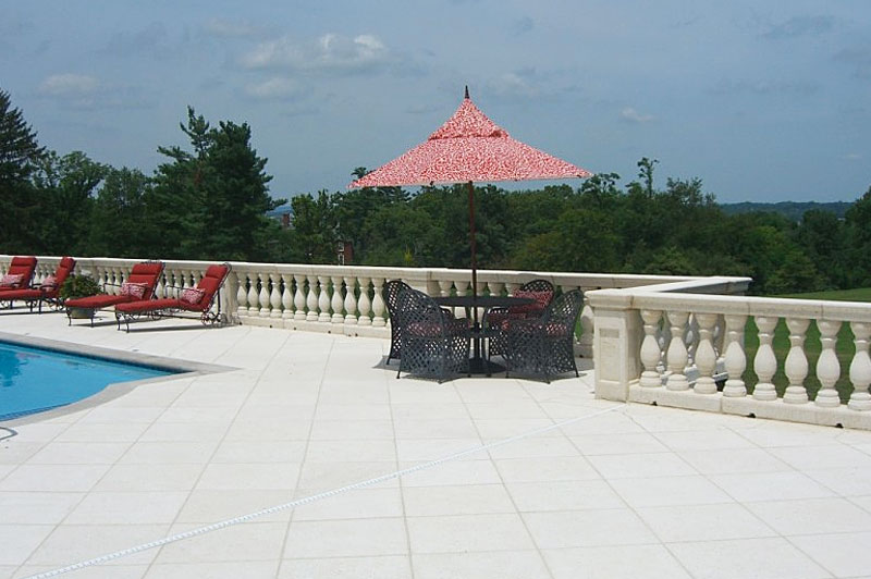 Balustrades and Top Rail manufactured by Artistic Statuary in South Florida and installed in Kentucky