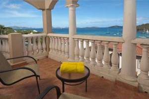 Balustrades, columns, and railing manufactured by Artistic Statuary Installed in US Virgin Islands