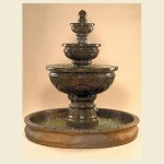 "Baroque Fountain with 74"" Basin"