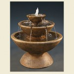 Color Bowl with Lips Fountain 3-Tier