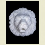 D'Este Lion Head Wall Plaque made from concrete