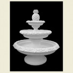 Extra Large 3-Tier La Corniche Fountain With Pineapple top