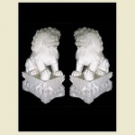 Large Concrete Foo Dog Statues