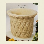 Concrete Pot with Lenox design