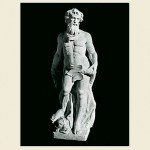 Statue of Neptune that stands 5 feet tall