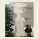 Concrete Olivio Urn with Pedestal