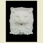 Large Square Lion Head Concrete Wall Plaque