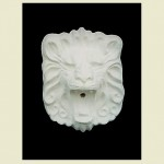 Small Square Lion Head Concrete Wall Plaque