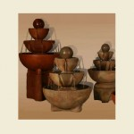 Three bowl fountain with ball
