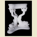 Three Dolphin Table Base Pedestal