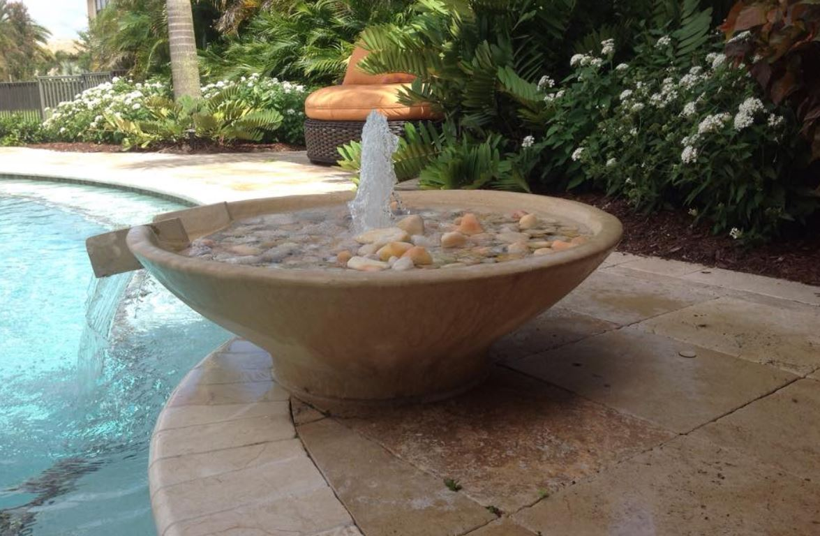 Swimming Pool Fountains, Scupper Bowls & Water Features ...
